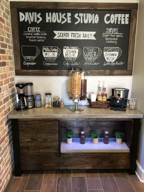 Custom Made Concrete Top Coffee Bar