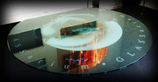 Custom Made Glass Table With Custom Logo Or Design For Commercial Or Residential Glass Design