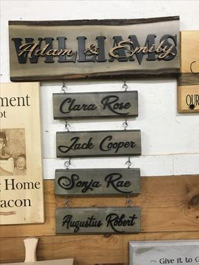 Custom Made Last Name Established Sign Family Name Signs Wedding Gift Wood
