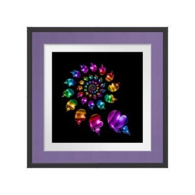 Custom Made Rainbow Heart Wheel - Framed Print, Canvas Print, Or Poster - Wall Art