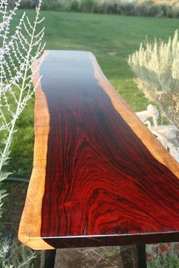 Custom Made High Cocobolo Console Table