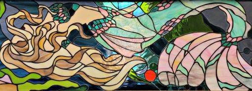 "Custom Made Stained Glass Panel - ""The Magnificent Mermaid"" (P-61)"