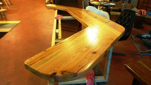 Custom Made Counter Top Reclaimed Heart Pine