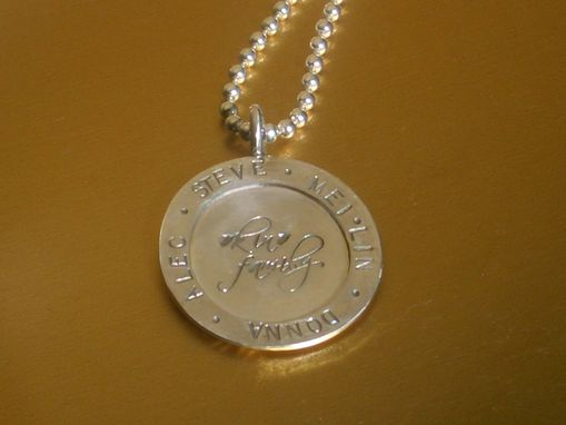 Custom Made Life Story Necklace With Hand-Stamped Charm