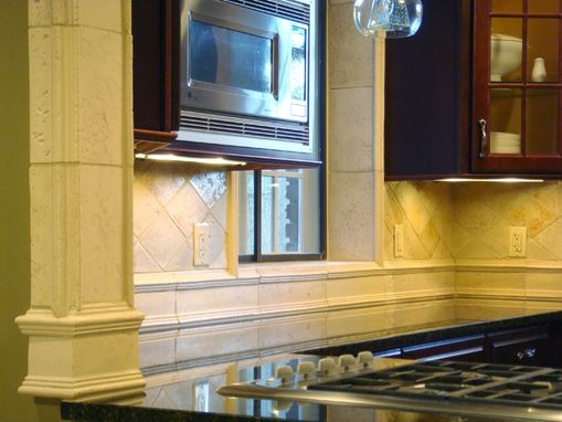 Custom Made Tumbled Porcelain Backsplash
