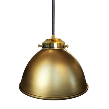 "Custom Made Dome 7"" Metal Shade Pendant Light- Brass"
