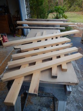 Custom Made Octagon Cypress Coffee Table For The Lanai