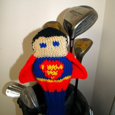 Custom Made Superman Justice League Knit Golf Club Cover