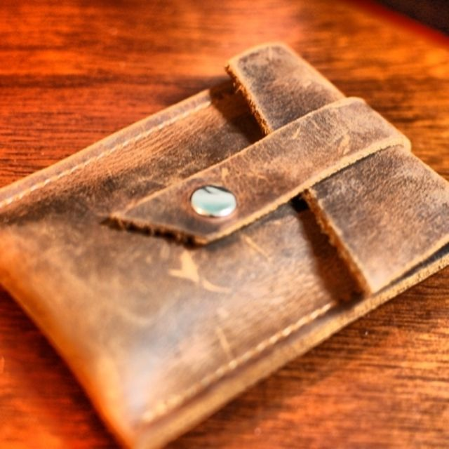 Pop Up Leather Card Wallet And Business Holder With Flap By Victoria R