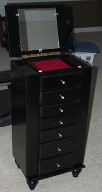 Custom Made Jewelry And Lingerie Chest