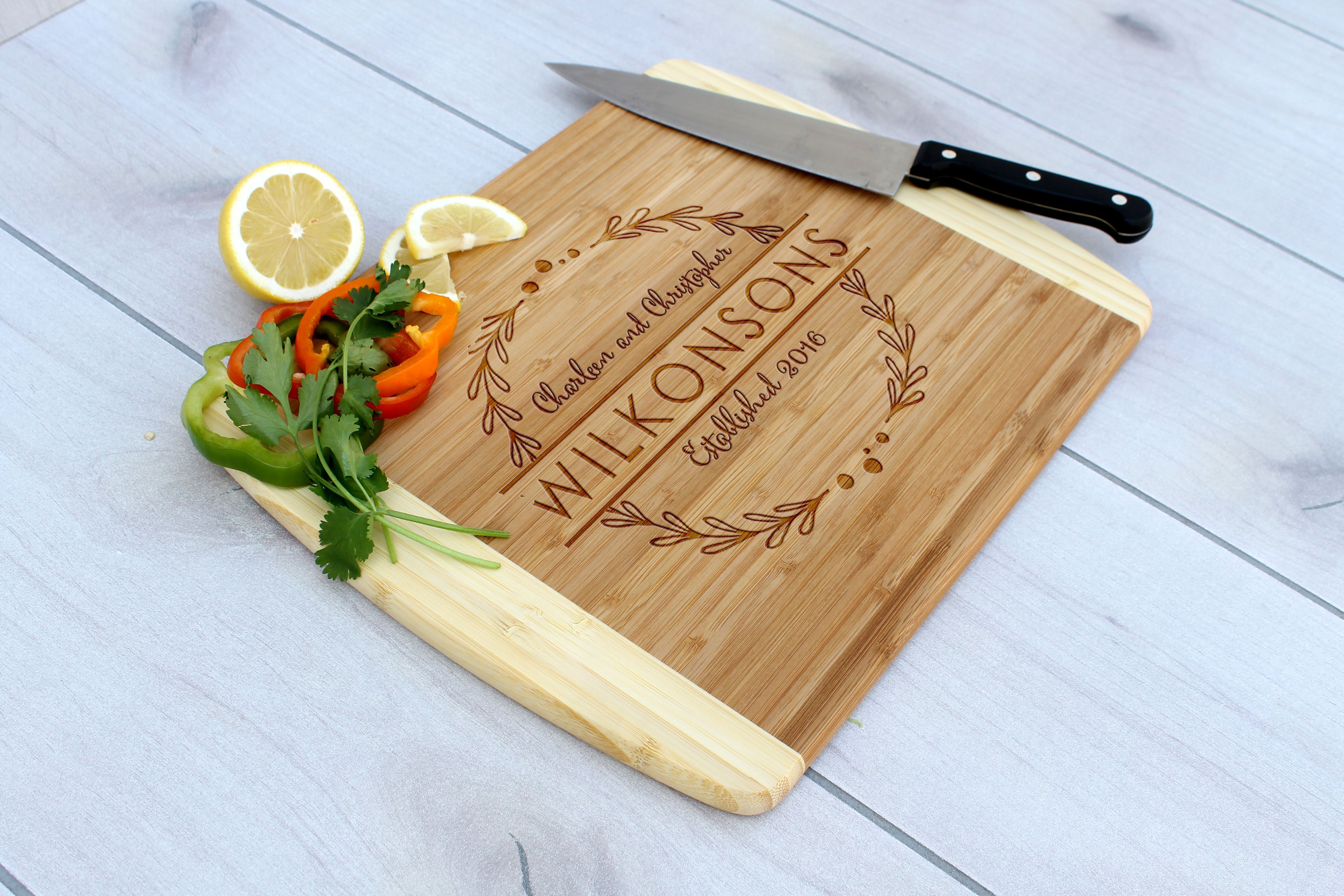 buy handmade personalized cutting board engraved cutting board