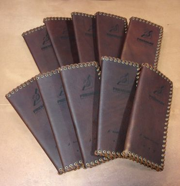 Custom Made Leather Invitations W/Without Laser Engraving
