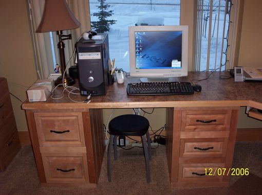 Custom Made Solid Birch Desk