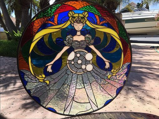 Custom Made Awesome Sailor Moon Staied Glass Window