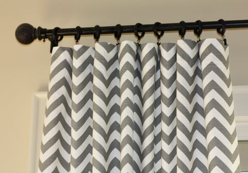 Custom Made Custom Curtain Panels In Michael Miller Bekko Collection - Billow Geometric 84l X 50w