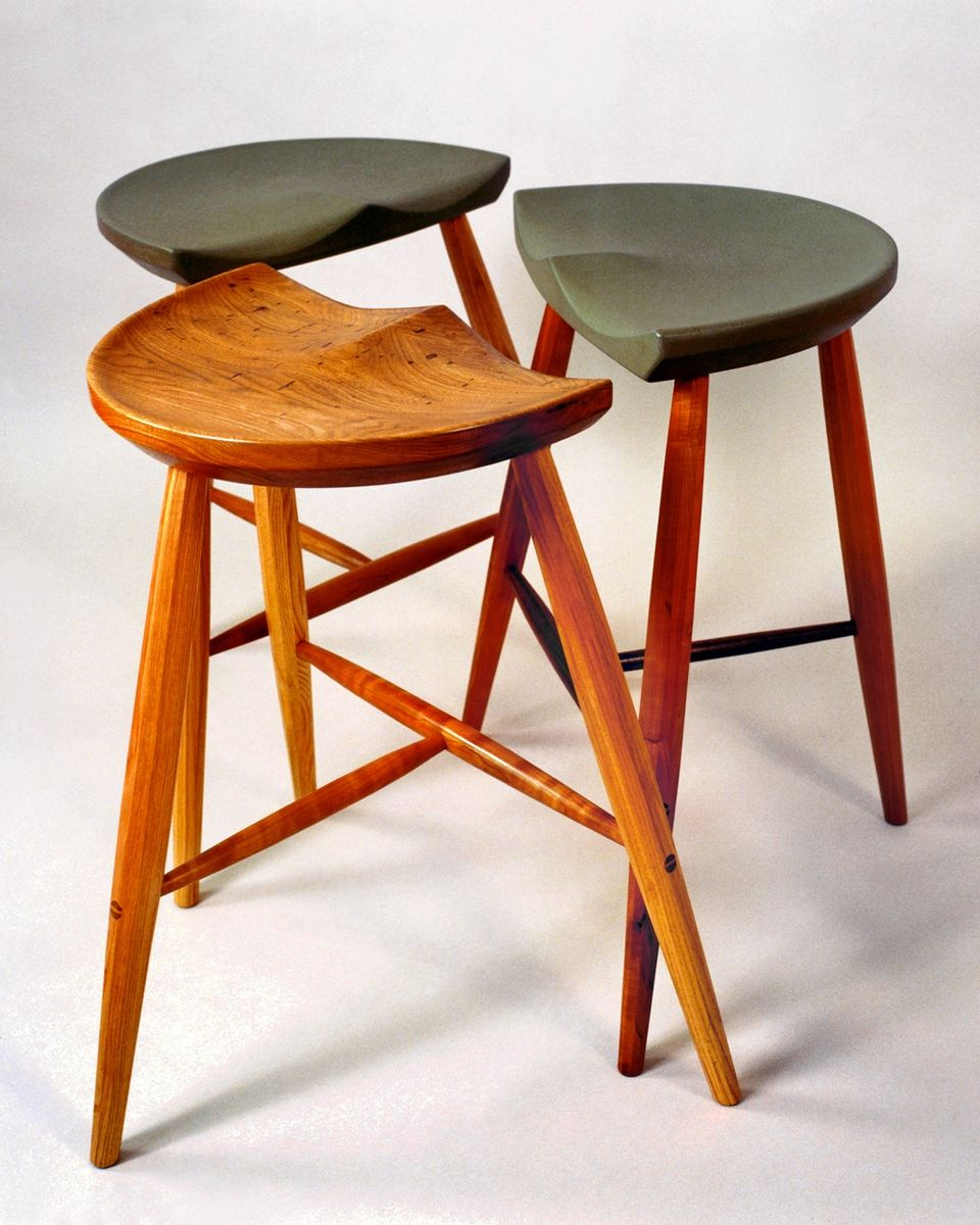 Three Legged Stool ~ Hand crafted three legged stool by holmquist furniture