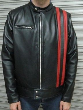 Custom Made Men Sizes Genuine Lamb Leather Cafe Racer Style Jacket Made To Order In 3 To 5 Days