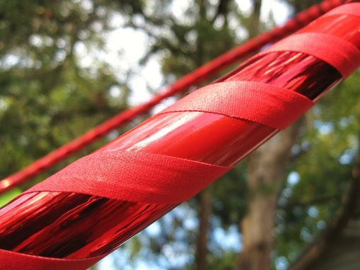 Custom Made Root Chakra - Collapsible Travel Hula Hoop Weighted - Red, Shiny