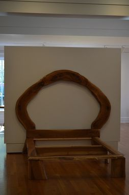 Custom Made The Circle Of Life -White Oak Bed