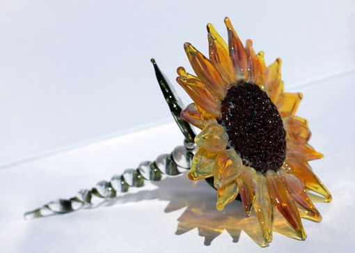 Custom Made Glass Sun Flower, Hand Blown And Gorgeous !