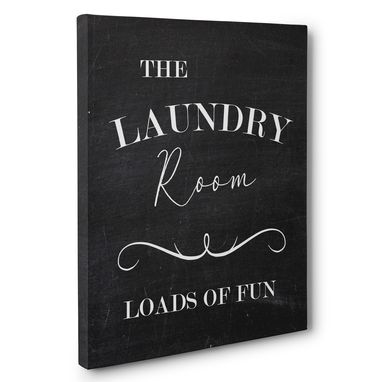 Custom Made Loads Of Fun Laundry Canvas Wall Art