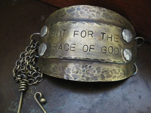 Custom Made Brass Metalwork Grace Bracelet With Spiritual Message