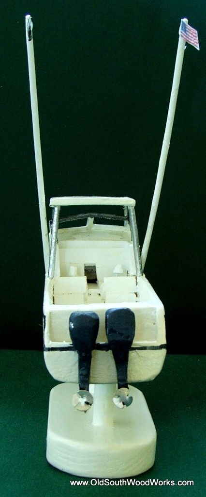 Hand Made Grady White 272 Sailfish Wooden Boat Model by Old South