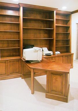 Custom Made Small Home Office In Birch