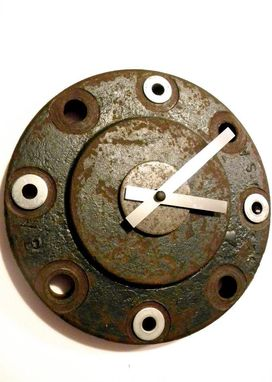 Custom Made Recycled Metal Cap Clock