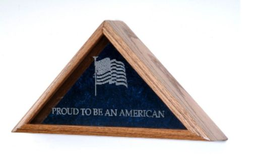 Custom Made Large Flag Display Case Includes Engraved Emblem