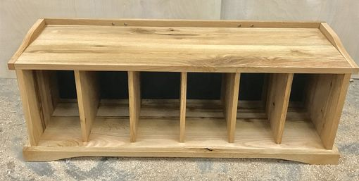 Custom Made Solid Oak Bookcase Bench