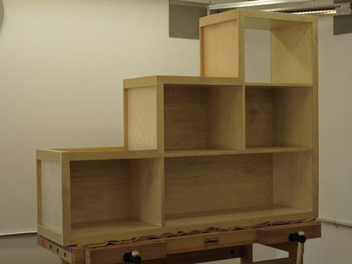 Custom Made Stepped Bookcase