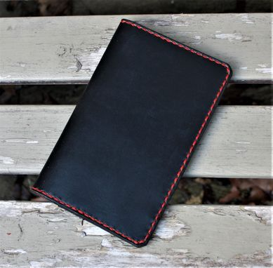 Custom Made Handmade Horween Chromexcel Black Leather Field Notes Moleskine Cover Wallet