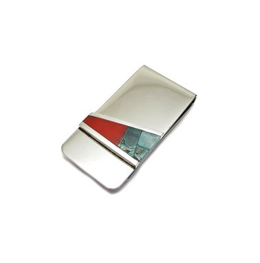 Custom Made Inlay Custom Money Clip - Turquoise Money Clip - Malachite Card Holder