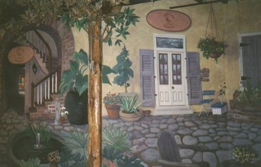 Custom Made The Foundry - French Quarter Courtyard Mural