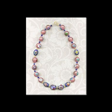 Custom Made Pink & Blue Necklace
