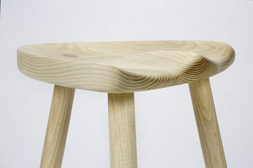 Custom Made Milking Stool In White Ash