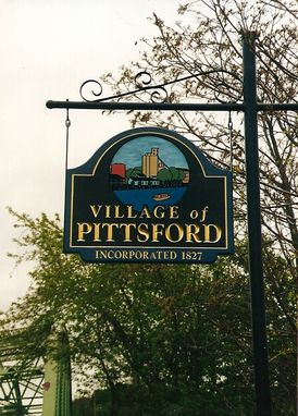 Custom Made Village Entrance And Historic Signage