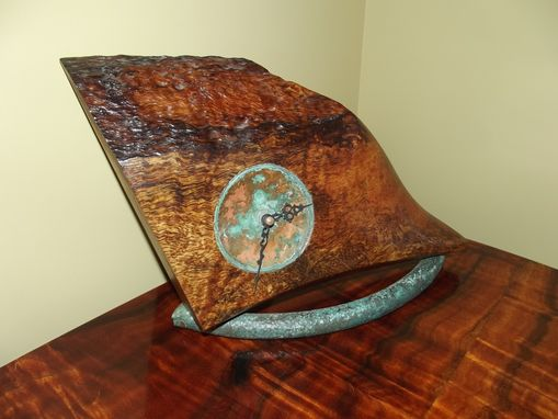 Custom Made Curly Mango And Copper Clock