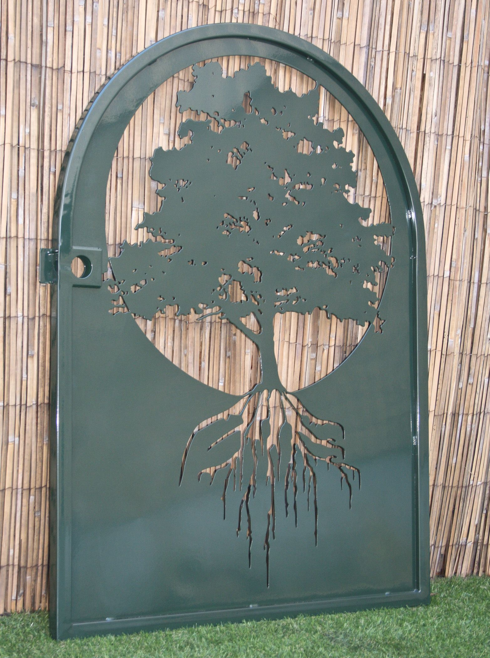 A Hand Made Metal Art Gate Tree