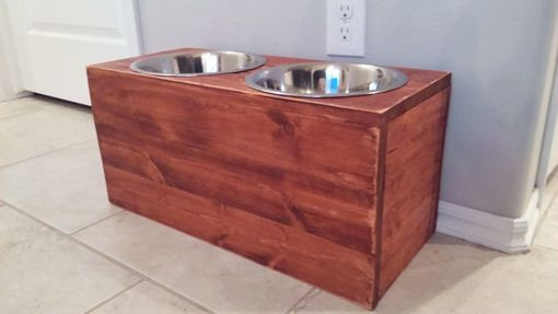 Custom Made Elevated Pet Feeding Station