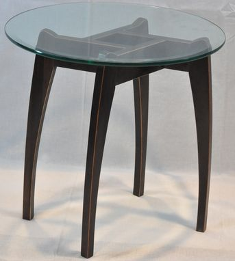 Custom Made Cherry Side Table With Ebony Finish