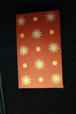 Custom Made Maroon, Blue And Gold Flower Journal