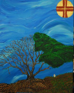 "Custom Made Abstract Painting: ""Holy Wednesday: The Tree Of Knowledge Of Good And Evil"""