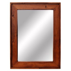 Custom Made Wood Mirror - Solid Hardwood With Cherry Stain