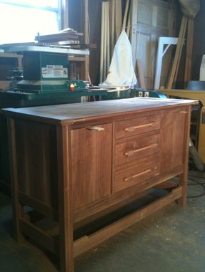 Custom Made Side Board From Black Walnut