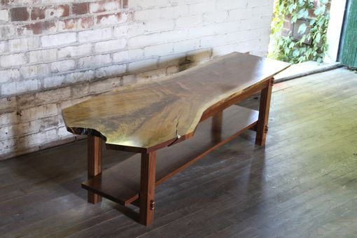 Custom Made Walnut Live Edge Coffee Table