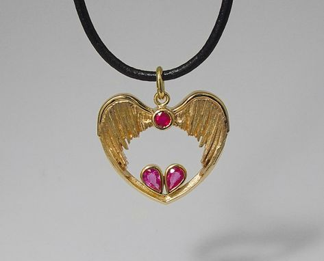Custom Made 14k Gold Charm With Wings.