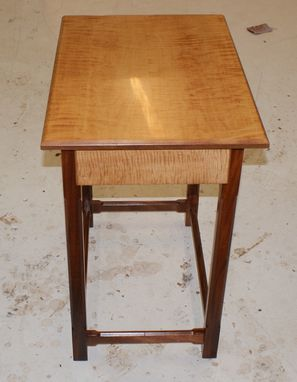 Custom Made Curly Maple And Sapele End Table