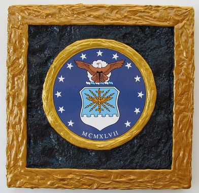 Custom Made U.S. Air Force Emblem - 3d Wall Art